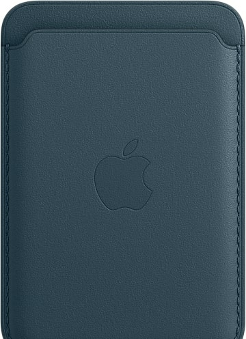 Кредитница Apple Leather Wallet MagSafe MHLQ3 (baltic blue)