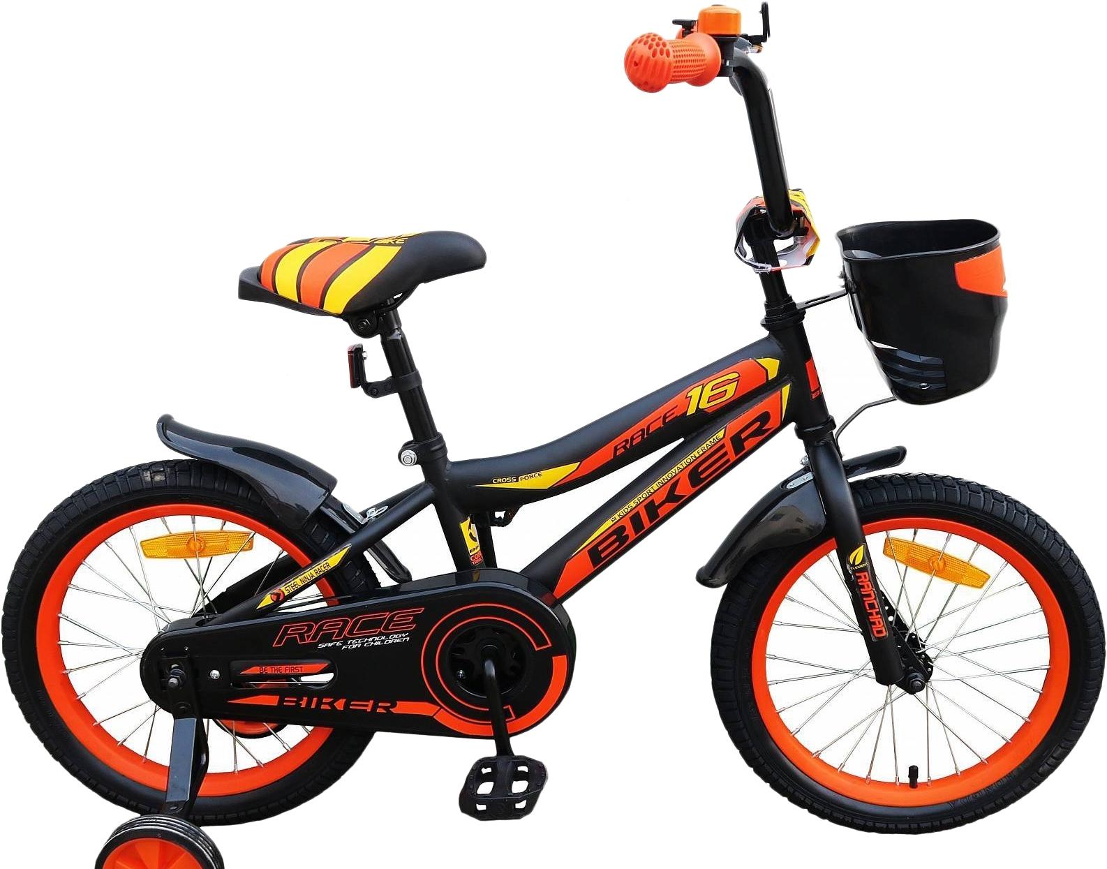 Детский велосипед Favorit Biker 16 (черный/оранжевый, 2018)