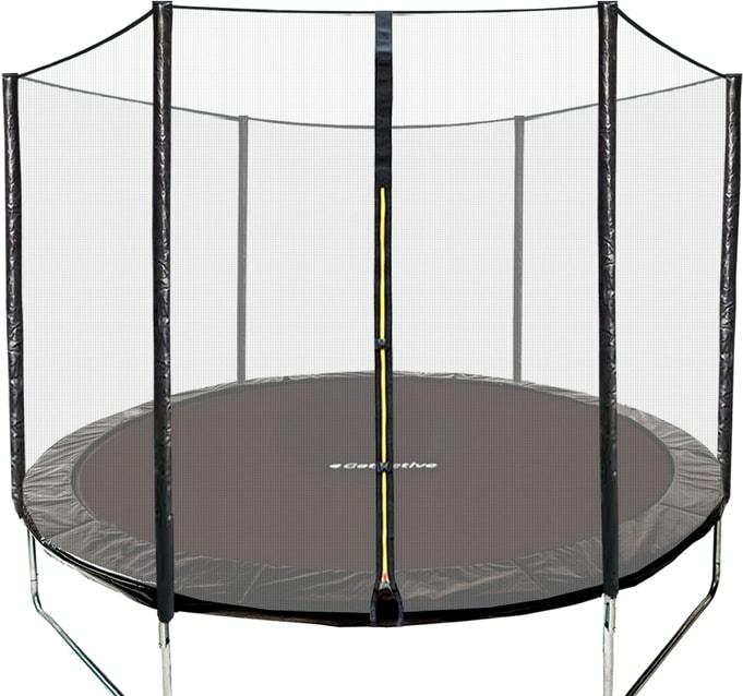 Батут GetActive Jump 6ft — 183 см с сеткой (черный)