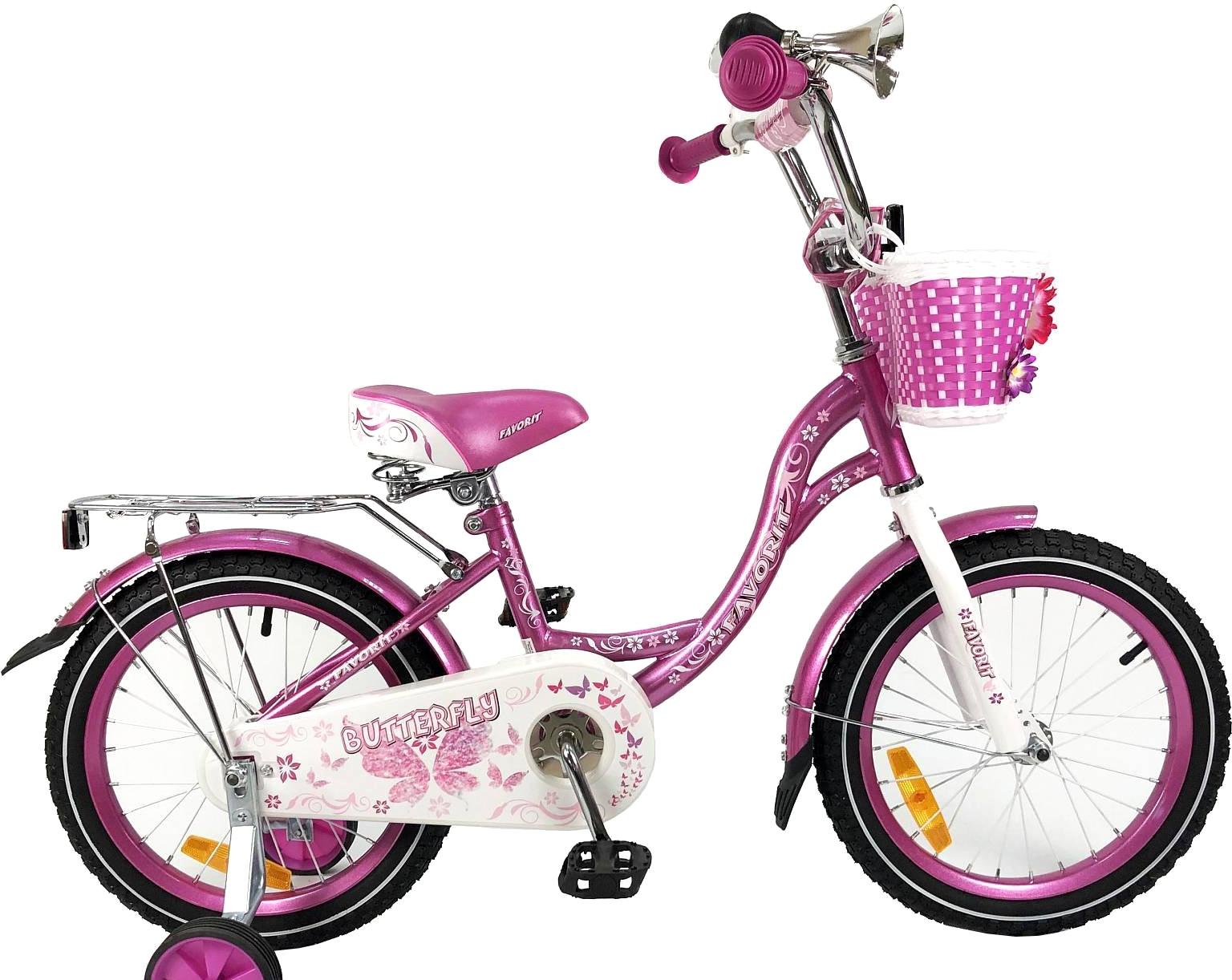 Детский велосипед Favorit Butterfly 18 (фиолетовый, 2019)