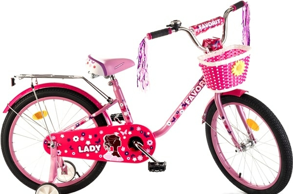 Детский велосипед Favorit Lady 20 2020 (розовый/малиновый)
