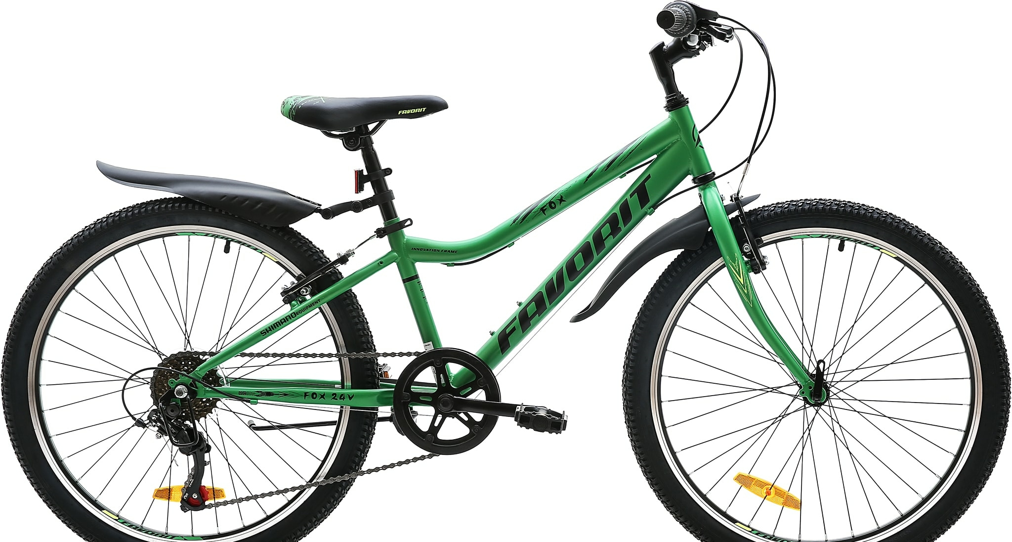 Велосипед Favorit FOX 24 V 2020 (зеленый)