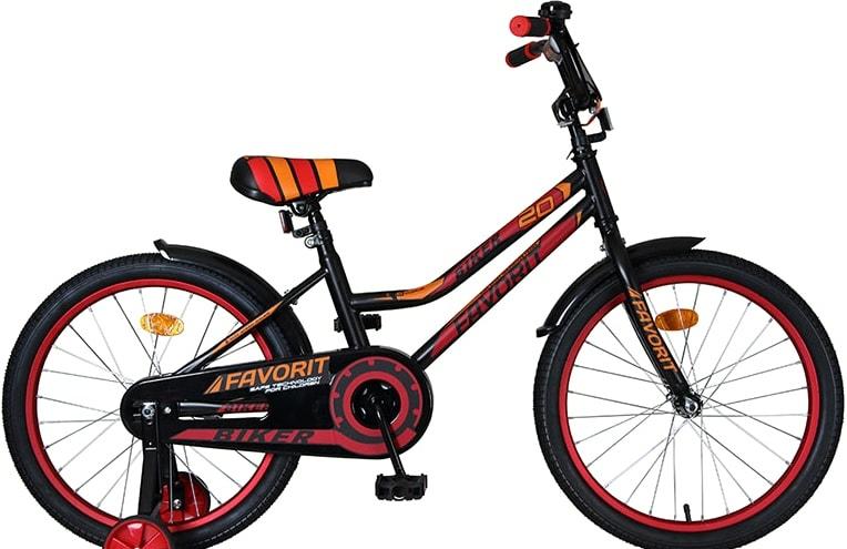 Детский велосипед Favorit Biker 20 2021 (черный/красный)