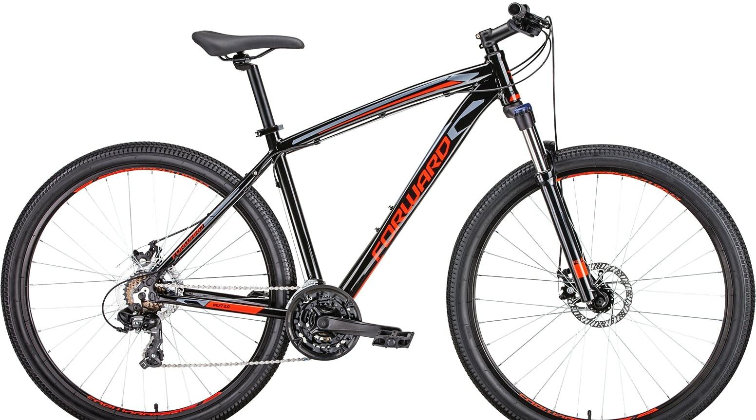 Велосипед Forward Next 29 2.0 disc р.21 2019 (черный/красный)