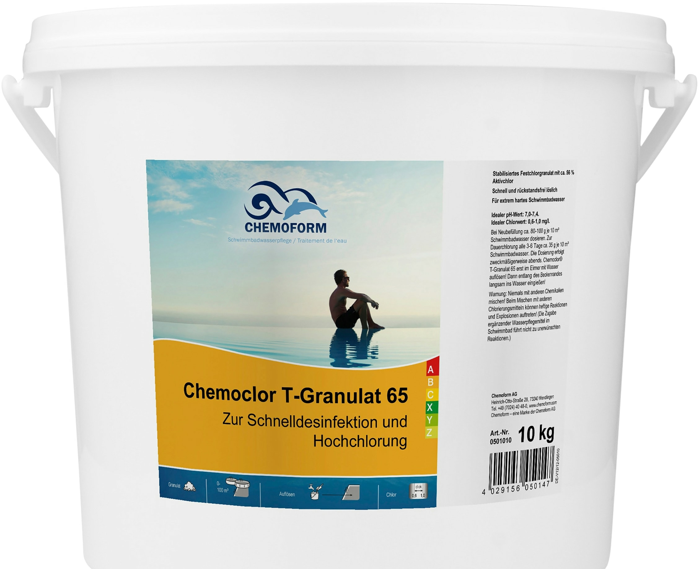 Химия для бассейна Chemoform Кемохлор T-65 гранулированный 10 кг
