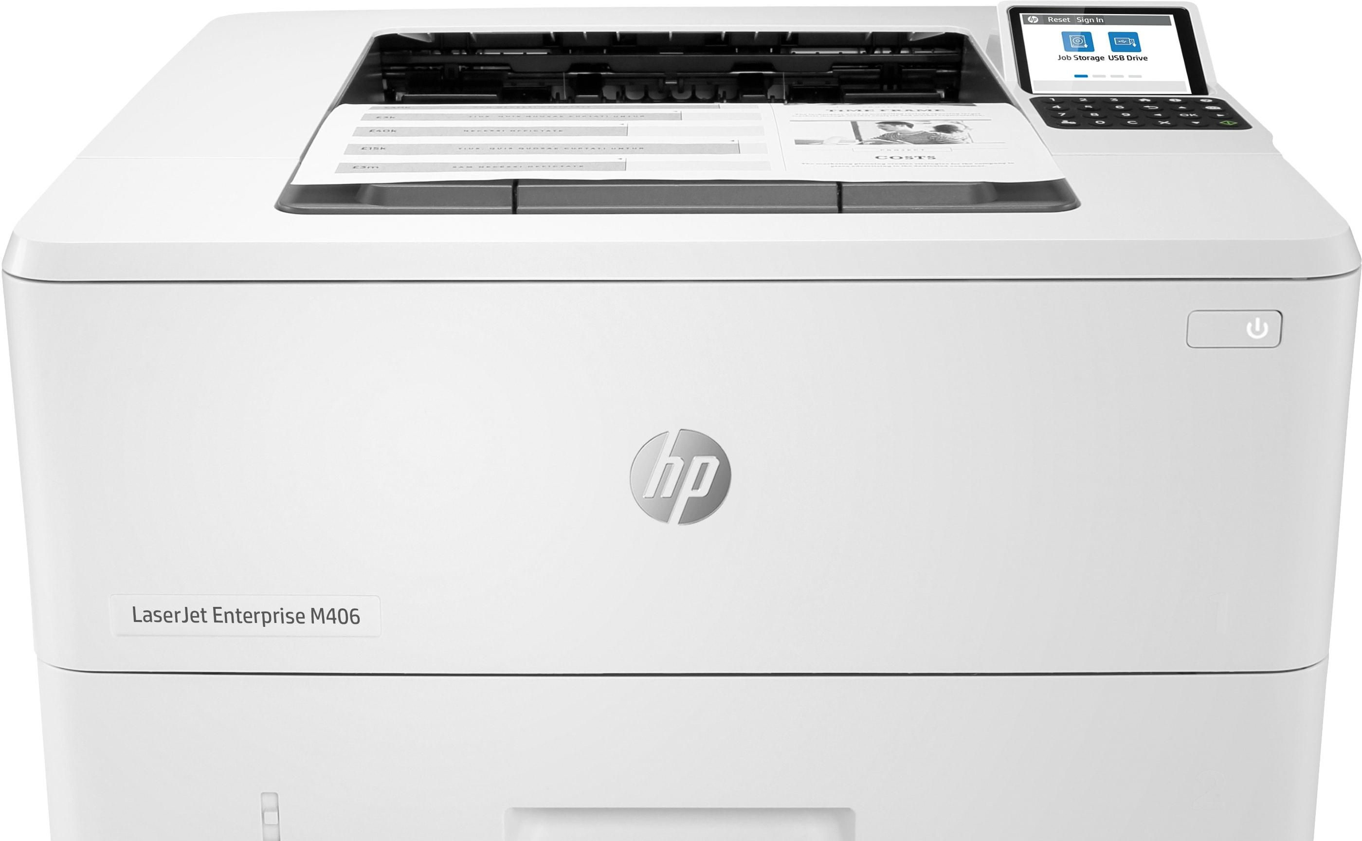 Принтер HP LaserJet Enterprise M406dn