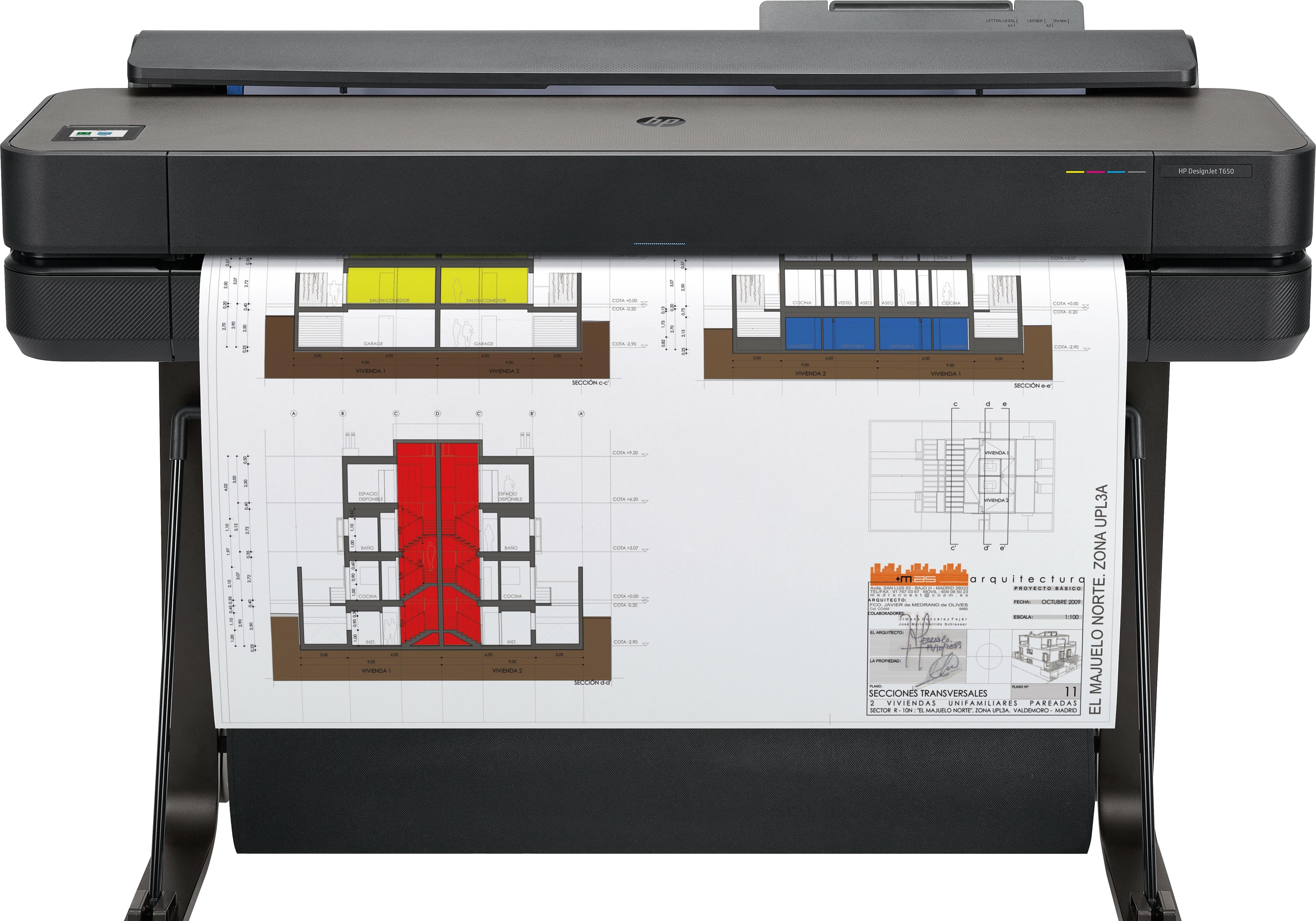 Плоттер HP DesignJet T650 (36-дюймовый)