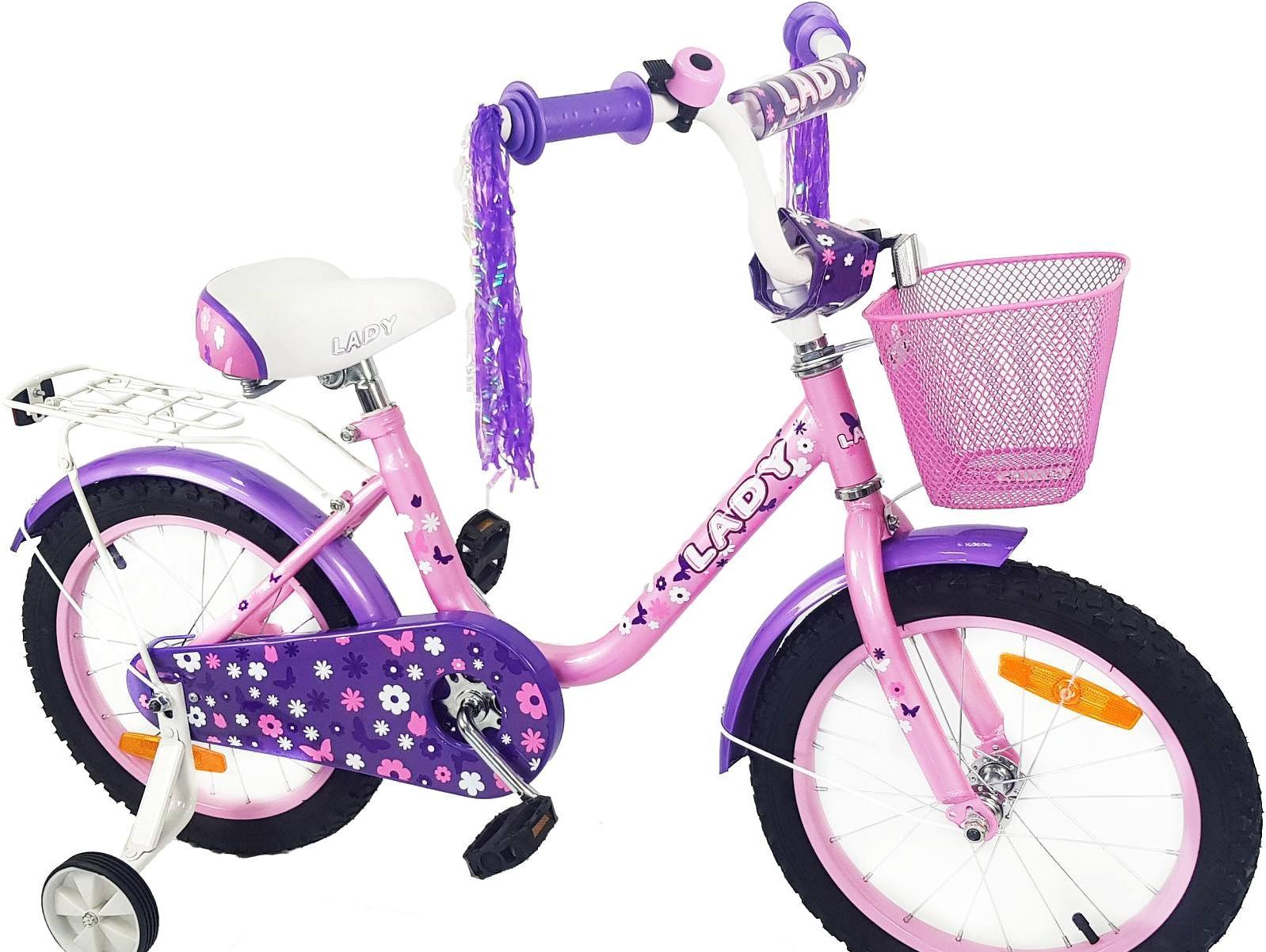 Детский велосипед Favorit Lady 16 (розовый/фиолетовый, 2019)