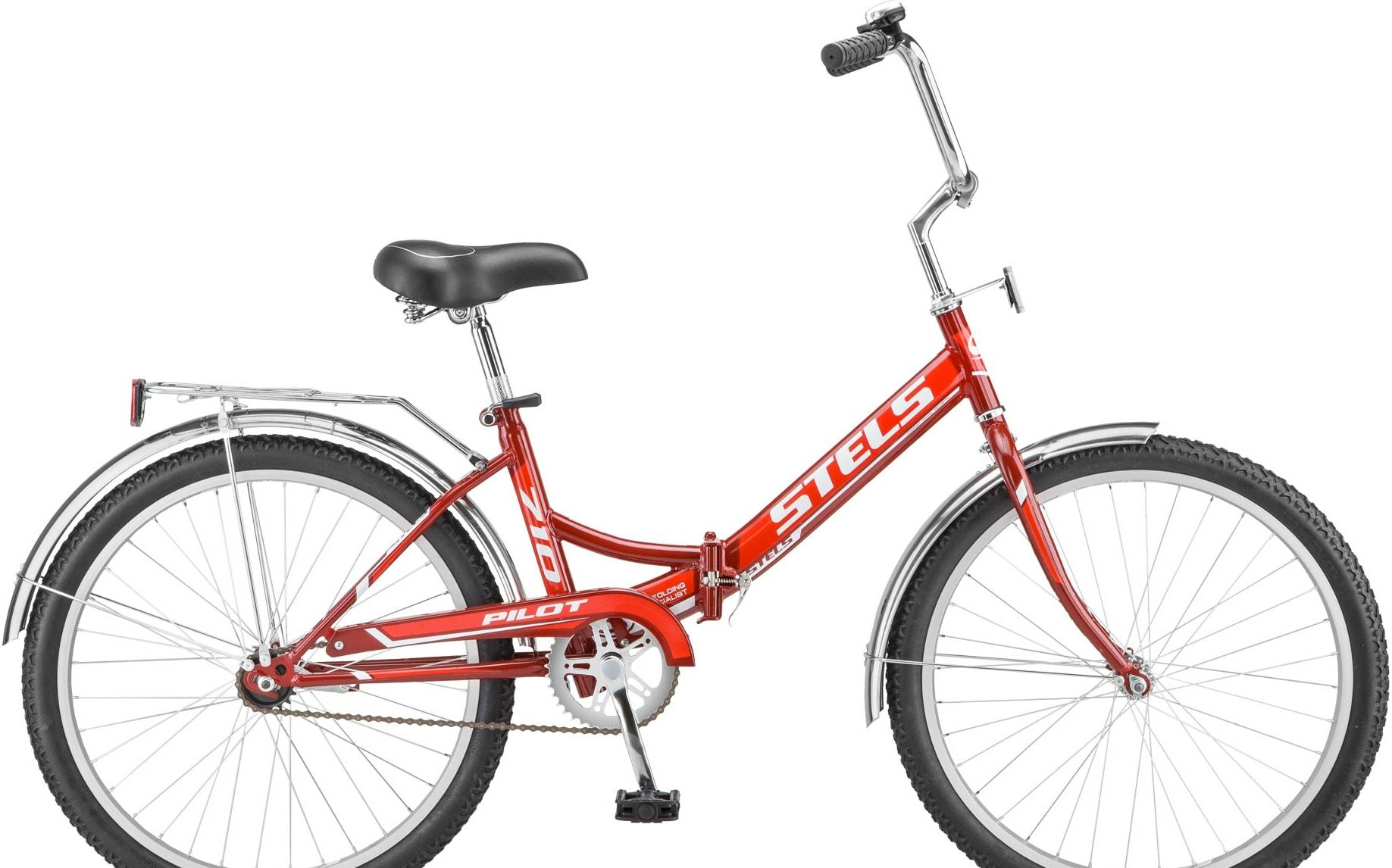 Велосипед Stels Pilot 710 24 Z010 2020 (красный/бордовый)
