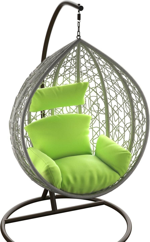 Подвесное кресло LoftyHome Noni 1147 (grey spots/green)