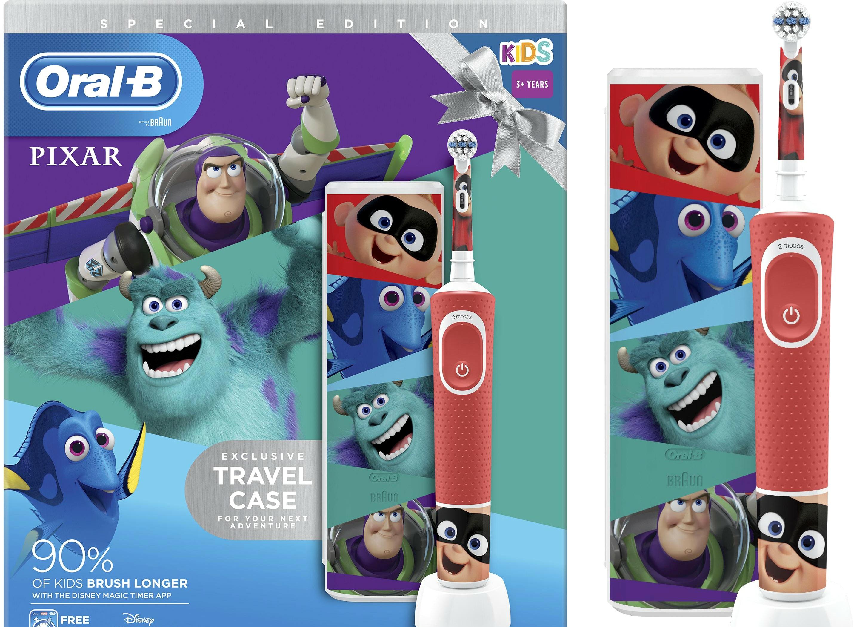 Электрическая зубная щетка Oral-B Kids Pixar D100.413.2KX
