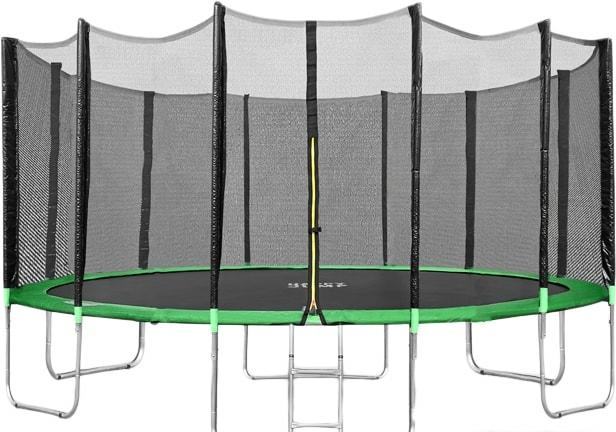 Батут Happy Jump 15ft Pro 457 см с внешней сеткой и лестницей