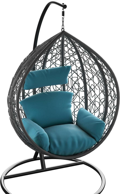 Подвесное кресло LoftyHome Noni 1147 (dark grey/blue)