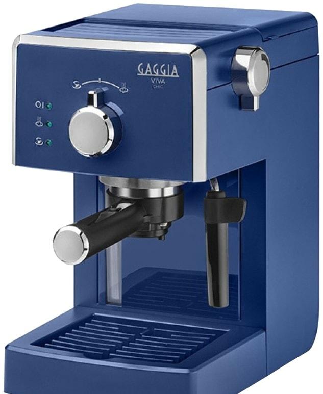 Рожковая помповая кофеварка Gaggia Viva Chic 8433/12 (синий)