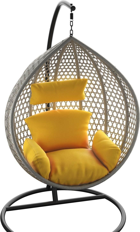 Подвесное кресло LoftyHome Kiwano 1191 (grey spots/yellow)