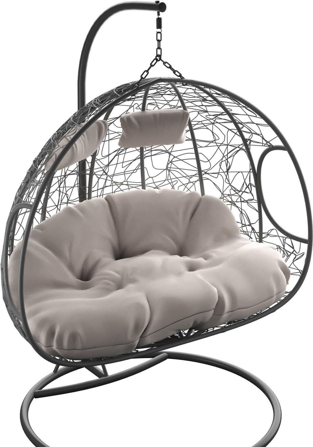 Подвесное кресло LoftyHome Bael 1144F (dark grey/grey)