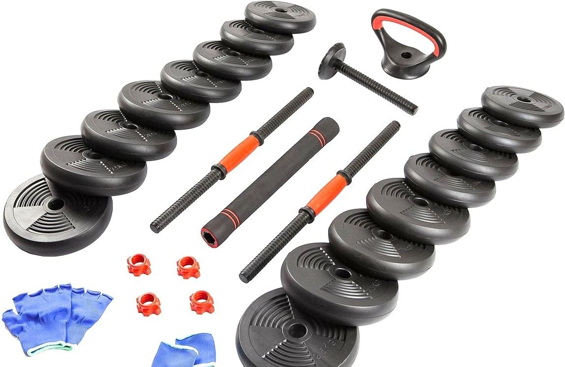 Штанга с гантелями TREX Sport 6 в 1 30 кг