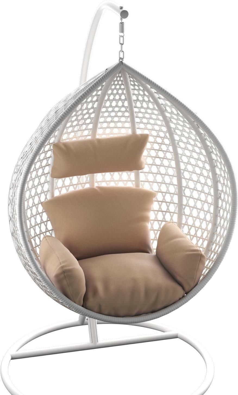 Подвесное кресло LoftyHome Kiwano 1191 (white/cappuccino)