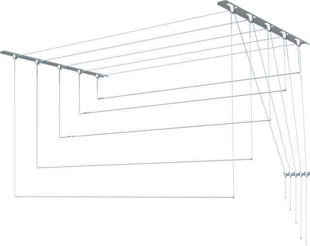 Сушилка для белья Лиана потолочная, металл, 2,1 м (С-011)