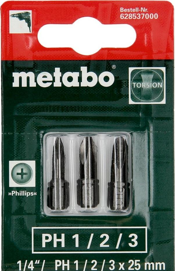 Набор бит Metabo 628537000 (3 предмета)