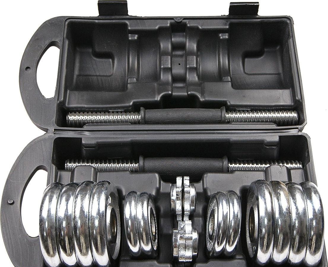 Гантели Atlas Sport Хромированные в чемодане 2×7.5 кг