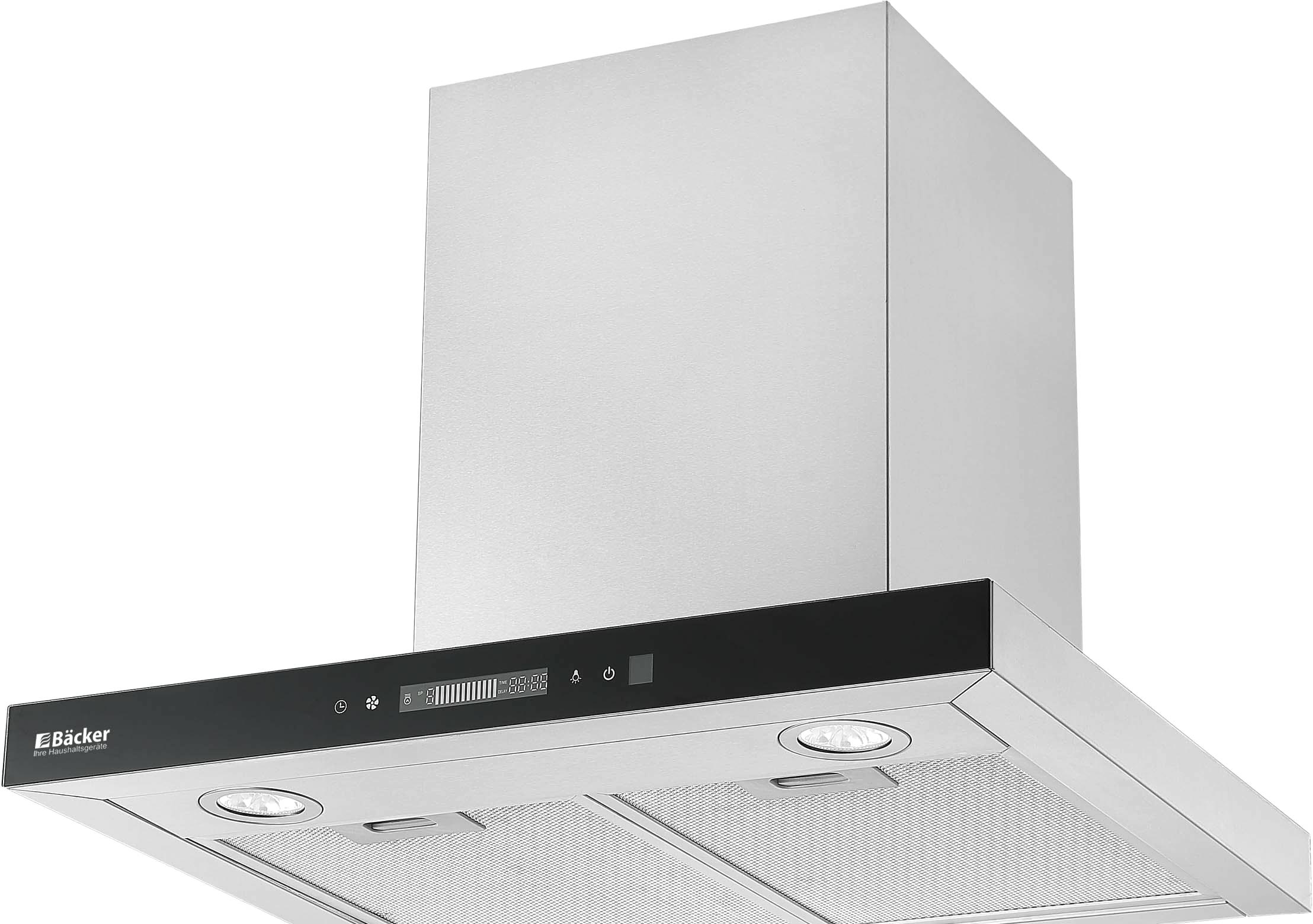 Кухонная вытяжка Backer CH60E-TGL200 SSBK Glass