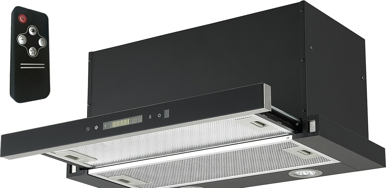 Кухонная вытяжка Backer TH60CL-2F200-SHINY BLACK RC