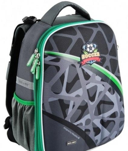 Рюкзак Mike&Mar Футбол 1008-202 (темно-серый/зеленый кант)