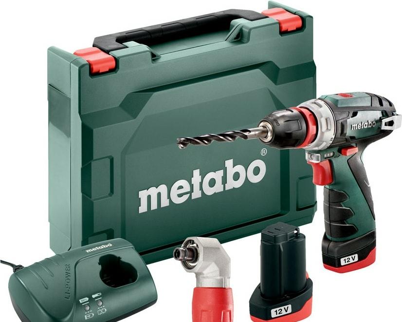 Дрель-шуруповерт Metabo PowerMaxx BS Quick Basic 600156950 (с 2-мя АКБ, кейс, 2 патрона)