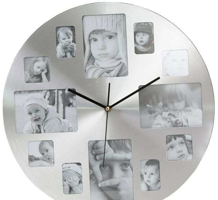 Настенные часы Platinet Memory PZMC (серебристый)