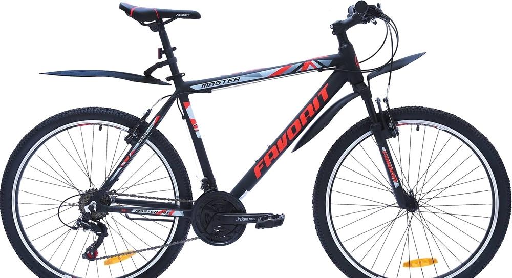Велосипед Favorit Master V 26 (черный/красный, 2019)