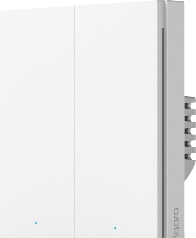 Выключатель Aqara Smart Wall Switch H1 (двухклавишный, без нейтрали)